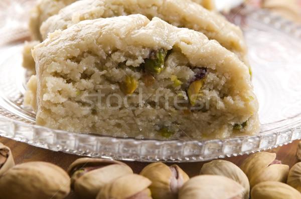 Homemade Halvah with Pistachio Nut  Stock photo © joannawnuk
