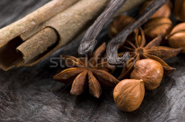 ароматический специи коричневого сахара орехи фон звездой Сток-фото © joannawnuk