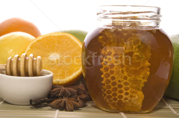 Fresche miele a nido d'ape spezie frutti limoni Foto d'archivio © joannawnuk