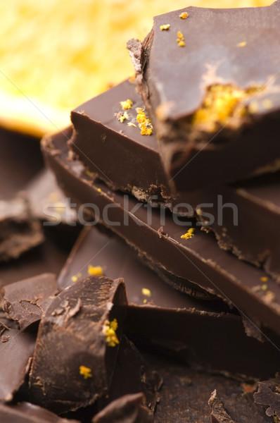 Maison chocolat orange fond lait cuisson Photo stock © joannawnuk