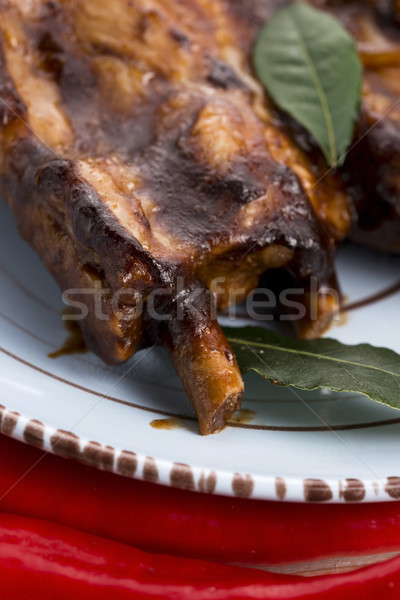 Barbecued Pork Baby Back Ribs  Stock photo © joannawnuk