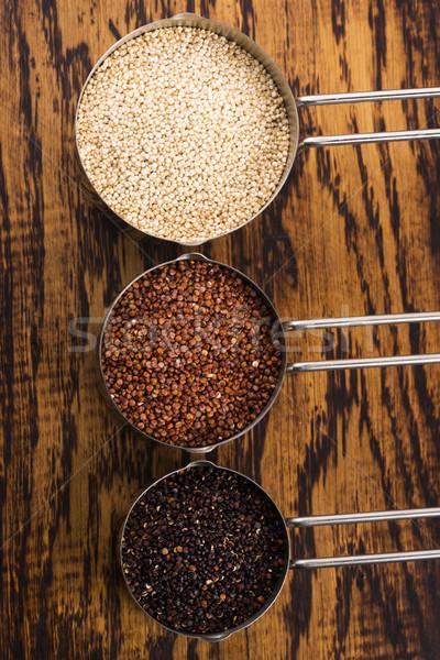 Seeds of Red, White and Black Organic Quinoa Stock photo © joannawnuk