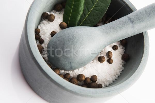 塩 食品 木材 薬 葉 石 ストックフォト © joannawnuk