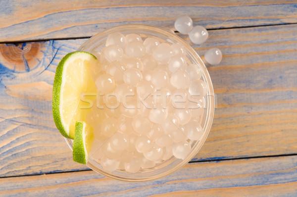 真珠 石灰 白 バブル 茶 材料 ストックフォト © joannawnuk