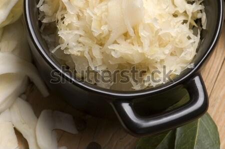 свежие капуста традиционный кислая капуста Салат перец Сток-фото © joannawnuk