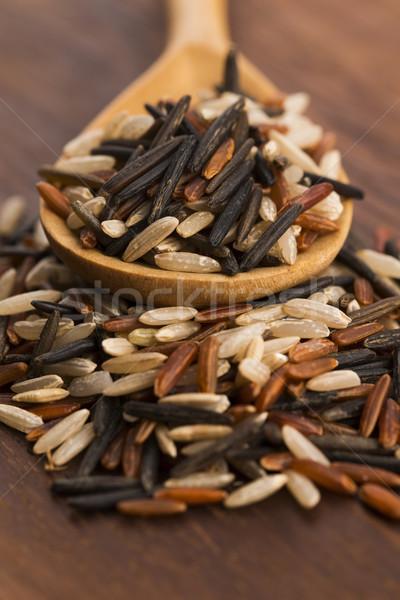 смешанный риса продовольствие азиатских Японский семени Сток-фото © joannawnuk
