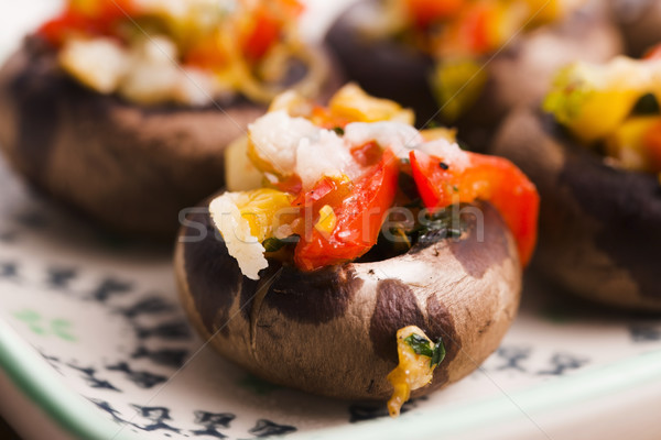 Stuffed mushrooms Stock photo © joannawnuk