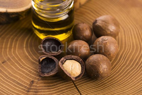 Dió olaj üveg üveg kövér gabona Stock fotó © joannawnuk