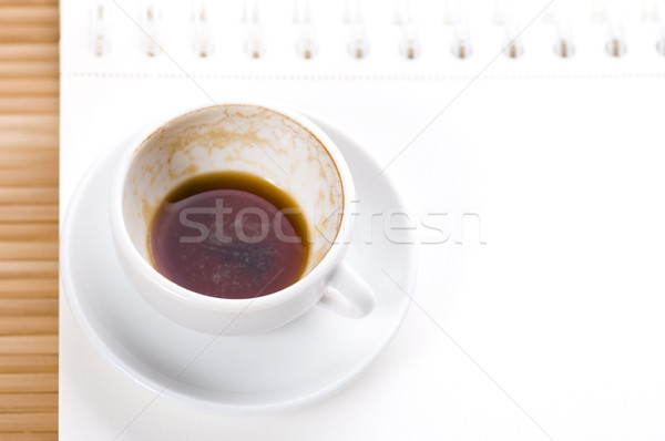 нет пустая страница пусто Кубок кофе кофе Сток-фото © joannawnuk