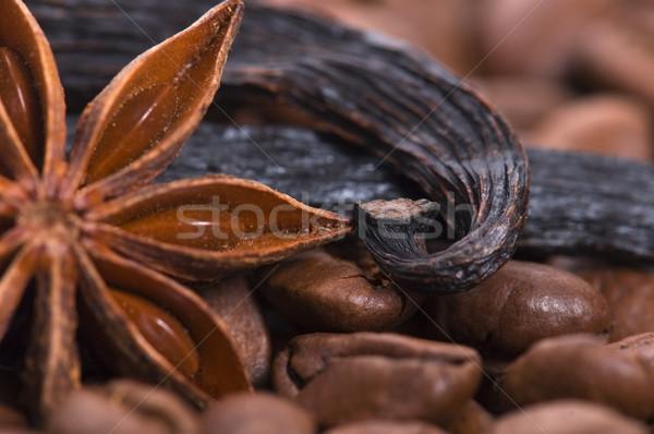 аромат кофе Ингредиенты анис ваниль кофе Сток-фото © joannawnuk