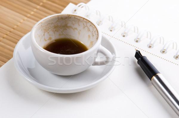нет пустая страница пусто Кубок кофе пер Сток-фото © joannawnuk
