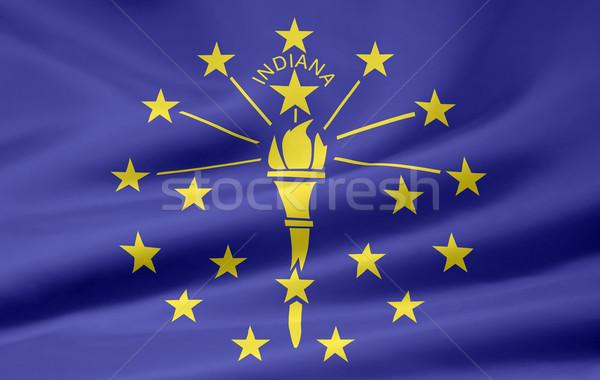 Zászló Indiana csillagok piros fehér szabad Stock fotó © joggi2002