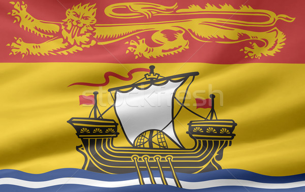 Flag of New Brunswick Stock photo © joggi2002