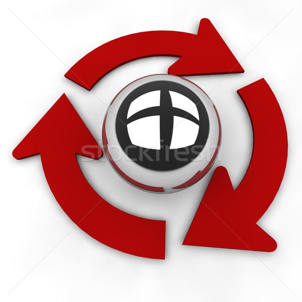 вращать успех двигатель отражение дисков решения Сток-фото © joggi2002