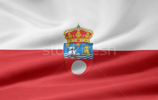 Zászló Spanyolország Európa textil szövetség spanyol Stock fotó © joggi2002