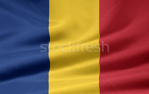 Magas döntés zászló Romania vidék ruha Stock fotó © joggi2002