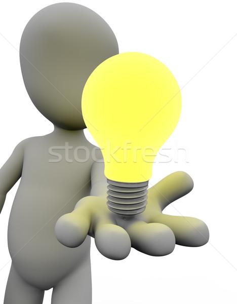 Innováció kéz fény jövő siker bemutató Stock fotó © joggi2002