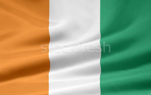 Zászló Elefántcsontpart Afrika ruha szalag szimbólum Stock fotó © joggi2002