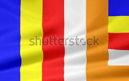 Flag of Buddhism Stock photo © joggi2002