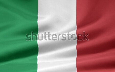 Bayrak İtalya rüzgâr bez afiş sendika Stok fotoğraf © joggi2002