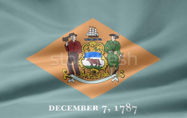 Bandeira Delaware projeto estrelas vermelho vento Foto stock © joggi2002