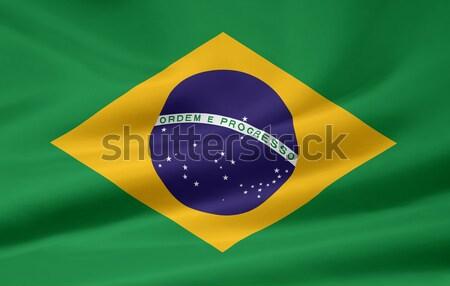 флаг Бразилия ткань Рио баннер символ Сток-фото © joggi2002