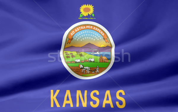 Flag of Kansas Stock photo © joggi2002