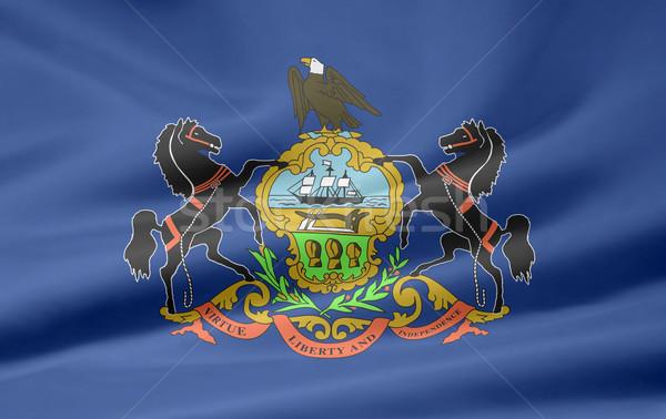 Vlag Pennsylvania Rood witte gratis doek Stockfoto © joggi2002