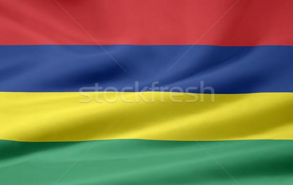 Zászló Mauritius ruha szalag kikötő Stock fotó © joggi2002