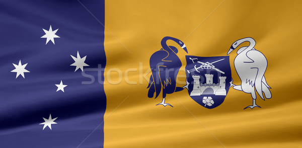 Zászló Ausztrália terület piros fehér ruha Stock fotó © joggi2002
