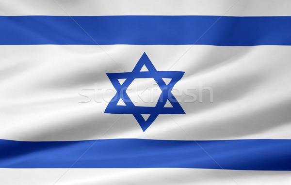 Zászló Izrael vidék ruha szalag illusztráció Stock fotó © joggi2002