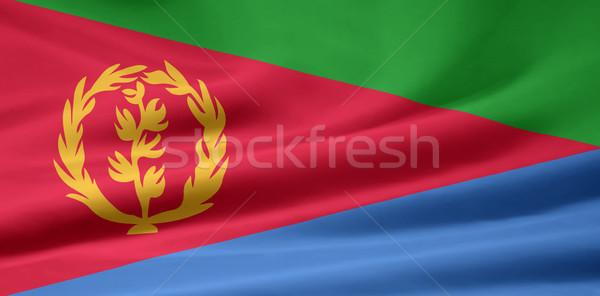 Banderą Erytrea Afryki tkaniny banner ilustracja Zdjęcia stock © joggi2002