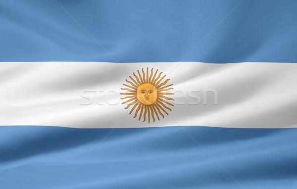 флаг Аргентина стране ткань текстильной Америки Сток-фото © joggi2002