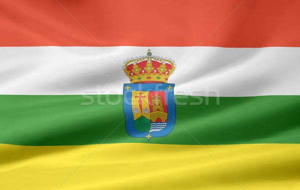 Bayrak İspanya rüzgâr Avrupa sendika Stok fotoğraf © joggi2002