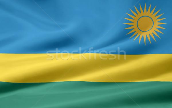 Pavillon Rwanda Afrique drap bannière Photo stock © joggi2002