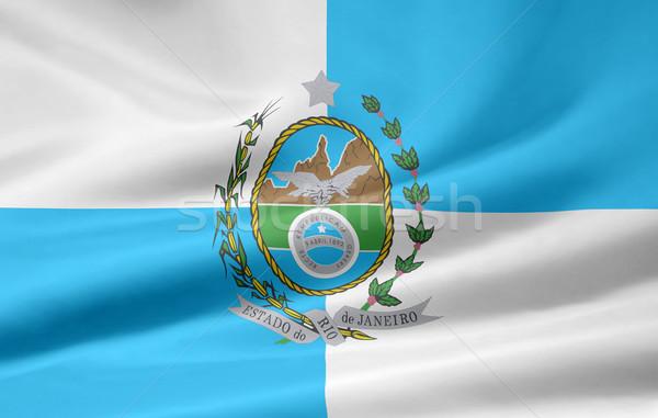 Сток-фото: флаг · Рио-де-Жанейро · дизайна · зеленый · стране