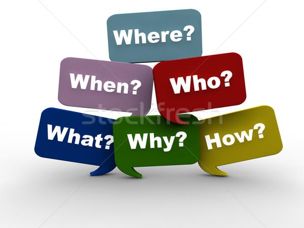 Questions Stock photo © joggi2002
