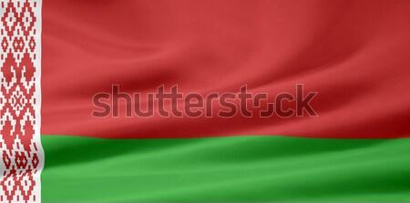 Zászló Fehéroroszország vidék ruha szalag szövetség Stock fotó © joggi2002