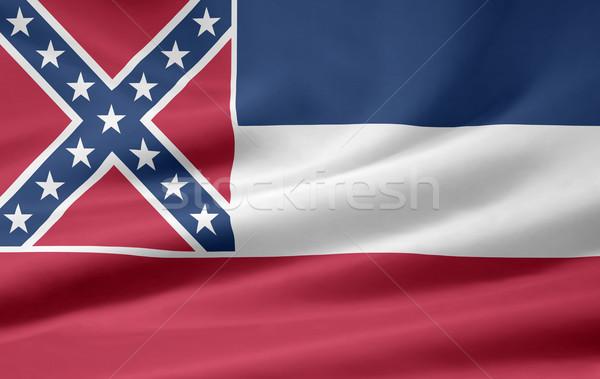 Bayrak Mississipi Yıldız kırmızı beyaz ücretsiz Stok fotoğraf © joggi2002