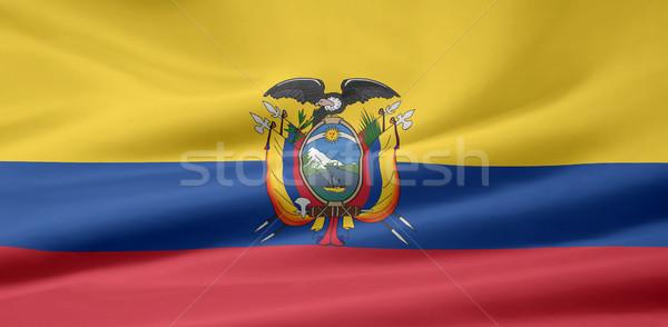 Zászló Ecuador vidék ruha textil szalag Stock fotó © joggi2002
