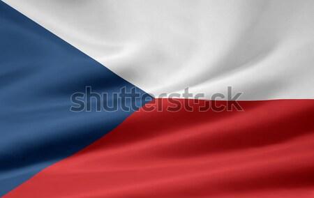 Zászló Csehország Európa szövetség Prága Stock fotó © joggi2002