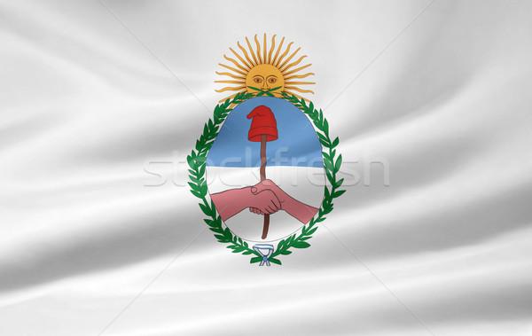 Zászló Argentína vidék ruha textil Amerika Stock fotó © joggi2002