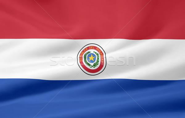 Magas döntés zászló Paraguay Stock fotó © joggi2002
