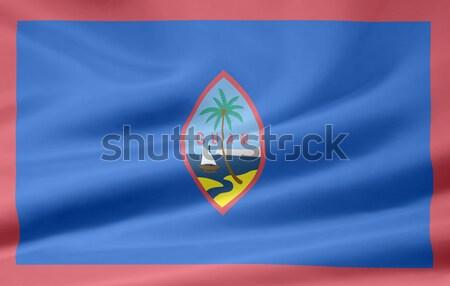 Bayrak Guam dizayn rüzgâr ülke bez Stok fotoğraf © joggi2002