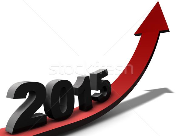 2015 iyimser görmek yıl finanse Stok fotoğraf © joggi2002