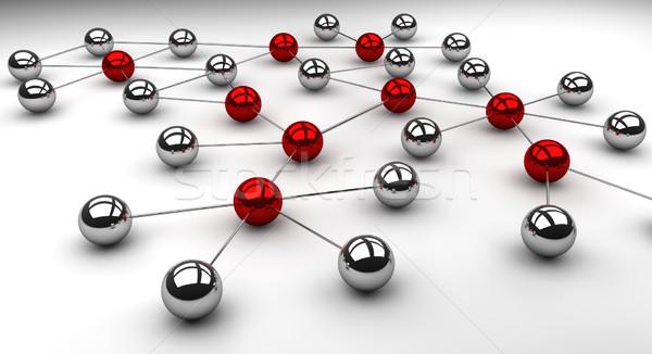 Red social red servidor web pelota comercialización Foto stock © joggi2002