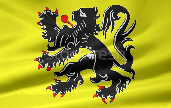 Flag of Flanders - Belgium Stock photo © joggi2002