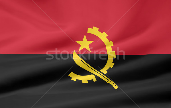 Flag of Angola Stock photo © joggi2002