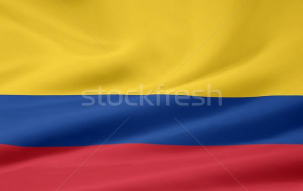 Zászló Colombia ruha Amerika szalag Bogotá Stock fotó © joggi2002