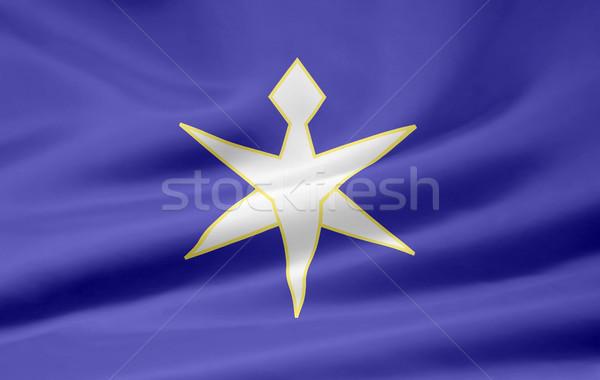 Zászló Japán magas döntés japán terv Stock fotó © joggi2002